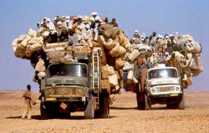 overloaded desert bus