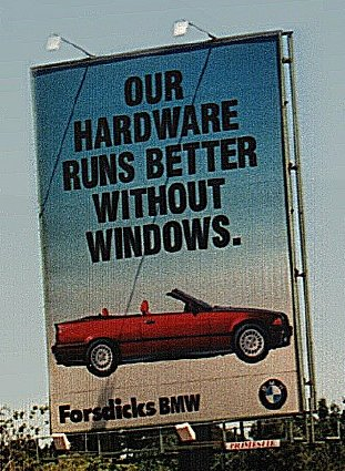 bmw no windows